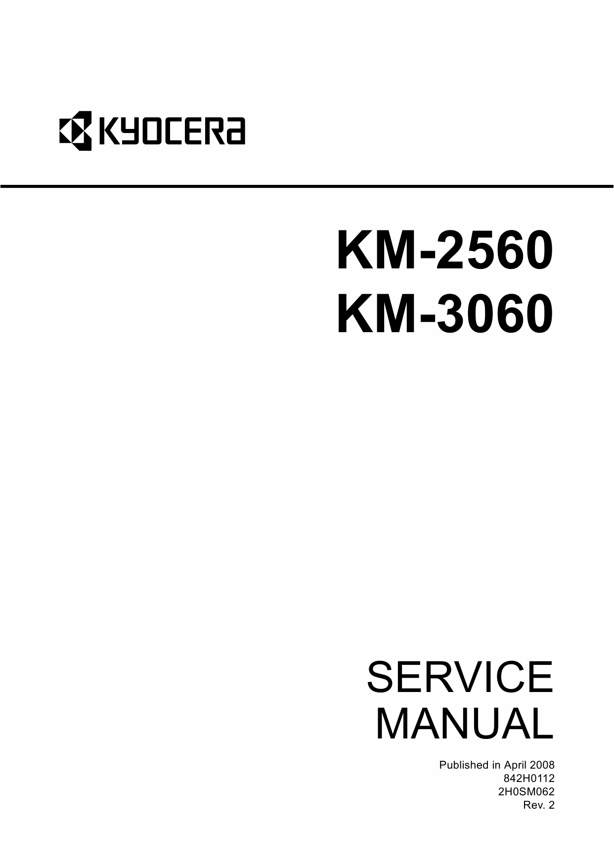 KYOCERA Copier KM-2560 3060 Service Manual-1